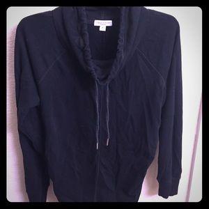 Liz Lange Maternity cowl neck black sweatshirt